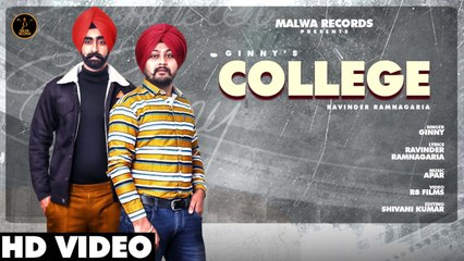 GINNY - COLLEGE - Latest Punjabi Songs 2020 | Malwa Records