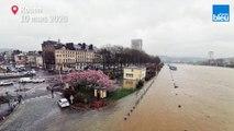 Crue de la Seine : chasseur d'images sur les quais de Seine inondés à Rouen