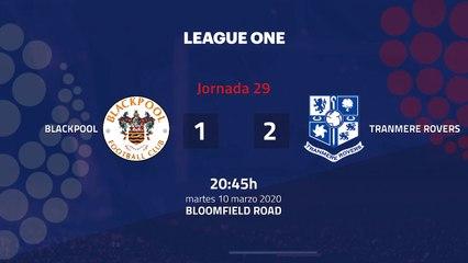 Resumen partido entre Blackpool y Tranmere Rovers Jornada 29 League One