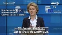 """Coronavirus: l'UE va """"utiliser tous les instruments à disposition"""" pour soutenir l'économie affirme Von der Leyen"""