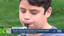 Blind teen to perform at D-backs game