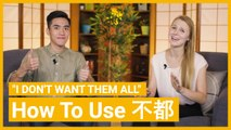 """""""I Don't Want Them All"""" How to use 都不 & 不全都 