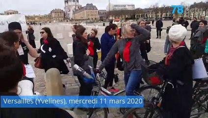 Les avocats du barreau de Versailles (Yvelines) courent jusqu'à Paris pour défendre leurs retraites