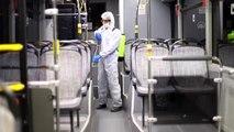 Otogar ve toplu ulaşım araçlarında dezenfekte çalışması yapıldı