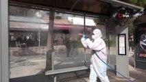 """Elazığ'da """"Korona virüsüne"""" karşı dezenfekte önlemi"""