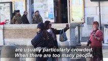 Trevi Fountain square empty as Italy under lockdown amid coronavirus outbreak