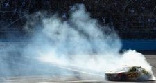 Where there's smoke, there's Logano's burnouts