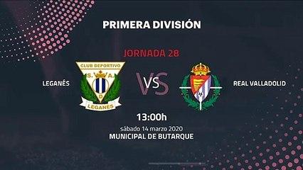 Previa partido entre Leganés y Real Valladolid Jornada 28 Primera División