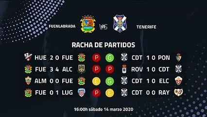 Previa partido entre Fuenlabrada y Tenerife Jornada 32 Segunda División