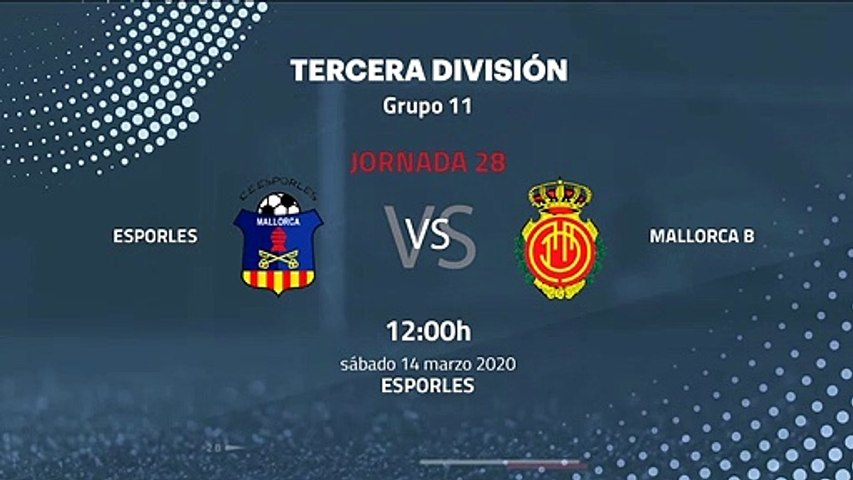 Previa partido entre Esporles y Mallorca B Jornada 28 Tercera División