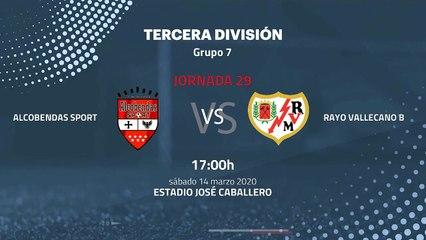 Previa partido entre Alcobendas Sport y Rayo Vallecano B Jornada 29 Tercera División