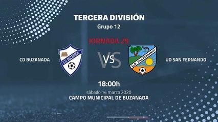 Previa partido entre CD Buzanada y UD San Fernando Jornada 29 Tercera División