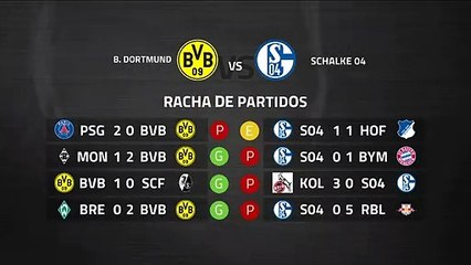 Previa partido entre B. Dortmund y Schalke 04 Jornada 26 Bundesliga