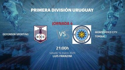 Previa partido entre Defensor Sporting y Montevideo City Torque Jornada 4 Apertura Uruguay