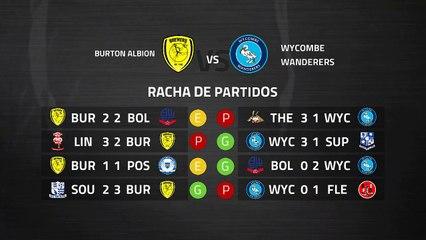 Previa partido entre Burton Albion y Wycombe Wanderers Jornada 38 League One