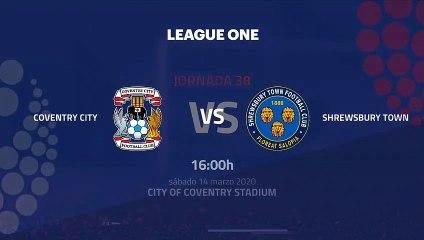 Previa partido entre Coventry City y Shrewsbury Town Jornada 38 League One