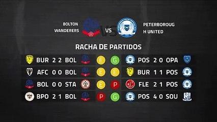 Previa partido entre Bolton Wanderers y Peterborough United Jornada 38 League One