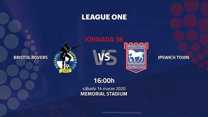 Previa partido entre Bristol Rovers y Ipswich Town Jornada 38 League One
