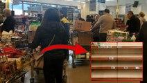 Koronavirüs sonrası vatandaş soluğu marketlerde aldı! Ürün stoğu yapmak isteyenler rafları boşalttı
