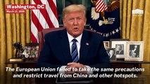 Donald Trump Announces 30-Day European Travel Ban Starting March 13