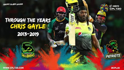 CHRIS GAYLE | THROUGH THE YEARS | #CPL20 #CricketPlayedLouder #ThroughTheYears #UniverseBoss