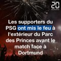 Les supporters du PSG face à Dortmund