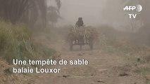 Égypte: une tempête de sable frappe la ville de Louxor