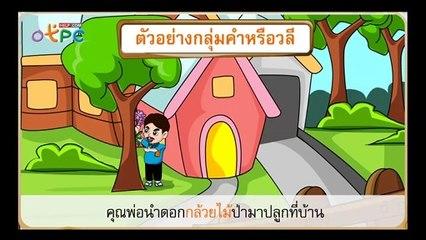 สื่อการเรียนการสอน ประโยคชนิดต่างๆ ตอนที่ 1 ป.3 ภาษาไทย