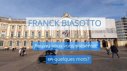 Franck Biasotto, candidat de la liste Toulouse belle et forte aux Municipales à Toulouse
