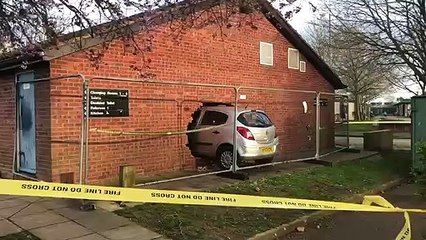 Car goes through wall of sports pavilion in Aylesbury