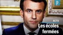 Emmanuel Macron : les établissements scolaires  fermés « jusqu'à nouvel ordre »