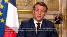 Macron annonce la fermeture des établissements scolaires jusqu'à nouvel ordre
