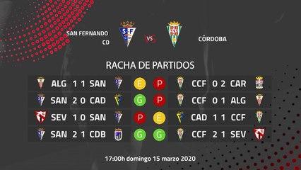 Previa partido entre San Fernando CD y Córdoba Jornada 29 Segunda División B