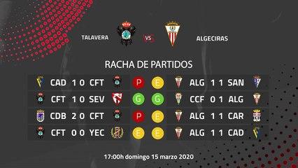 Previa partido entre Talavera y Algeciras Jornada 29 Segunda División B