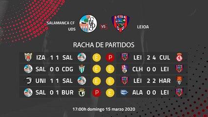 Previa partido entre Salamanca CF UDS y Leioa Jornada 29 Segunda División B