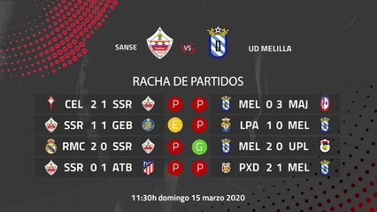 Previa partido entre Sanse y UD Melilla Jornada 29 Segunda División B