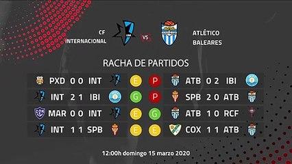 Previa partido entre CF Internacional y Atlético Baleares Jornada 29 Segunda División B