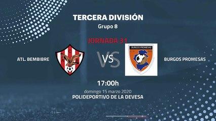 Previa partido entre Atl. Bembibre y Burgos Promesas Jornada 31 Tercera División