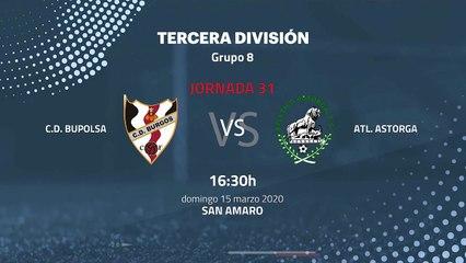 Previa partido entre C.D. Bupolsa y Atl. Astorga Jornada 31 Tercera División