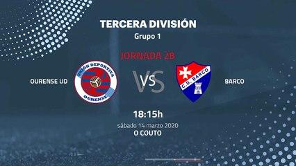 Previa partido entre Ourense UD y Barco Jornada 28 Tercera División