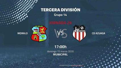 Previa partido entre Moralo y CD Azuaga Jornada 29 Tercera División
