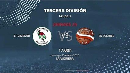 Previa partido entre CF Vimenor y SD Solares Jornada 29 Tercera División