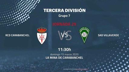 Previa partido entre RCD Carabanchel y SAD Villaverde Jornada 29 Tercera División