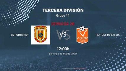 Previa partido entre SD Portmany y Platges de Calvia Jornada 28 Tercera División