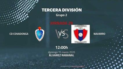 Previa partido entre CD Covadonga y Navarro Jornada 29 Tercera División