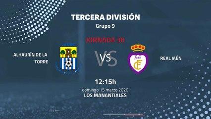 Previa partido entre Alhaurín De La Torre y Real Jaén Jornada 30 Tercera División