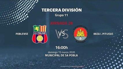 Previa partido entre Poblense y Ibiza I. Pitiusas Jornada 28 Tercera División