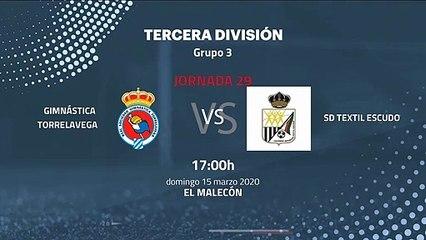 Previa partido entre Gimnástica Torrelavega y SD Textil Escudo Jornada 29 Tercera División