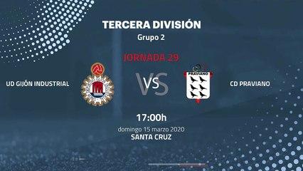 Previa partido entre UD Gijón Industrial y CD Praviano Jornada 29 Tercera División