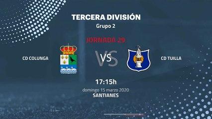 Previa partido entre CD Colunga y CD Tuilla Jornada 29 Tercera División